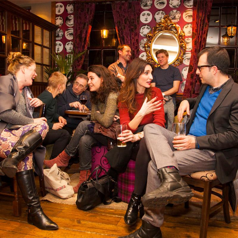 Writers at a Salon in 2015 (c) Martin Figura