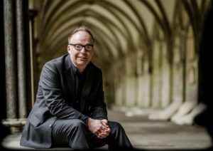 Mark Dawson in cloisters