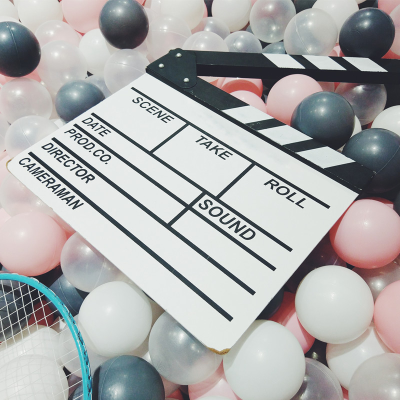 Film clapperboard image by Ian Deng
