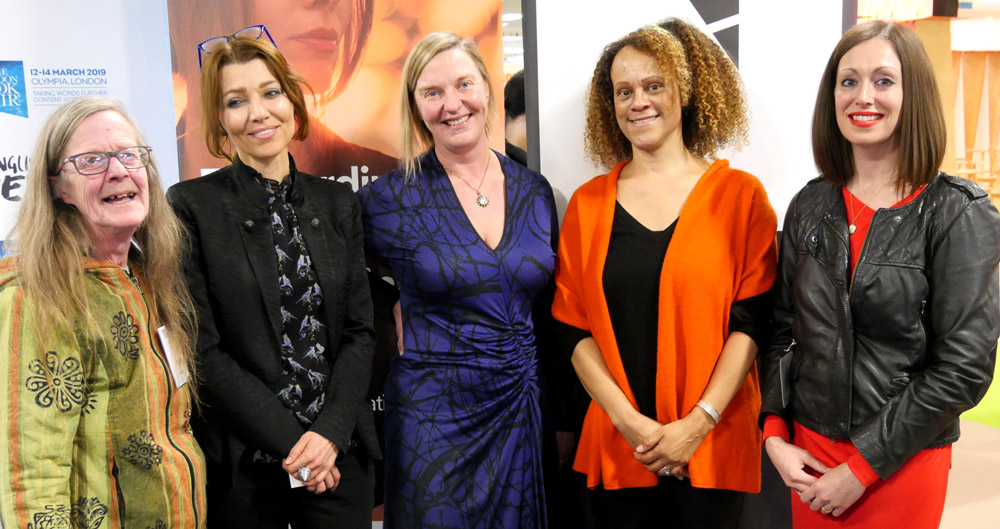 Elif Shafak with some of her selected writers at London Book Fair