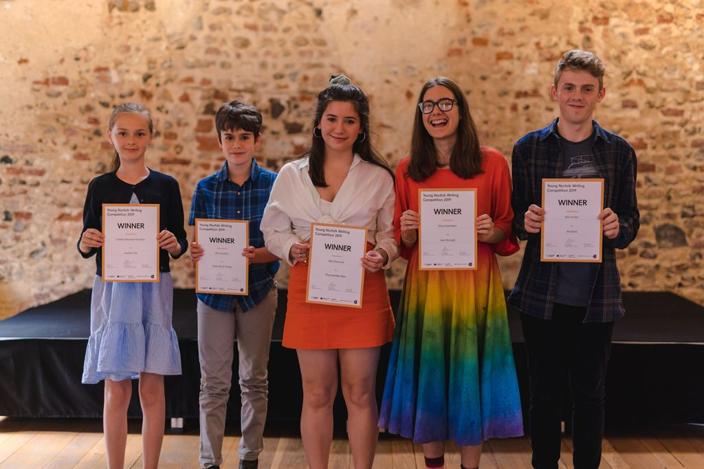 Winners of this year's Young Norfolk Writing Competition