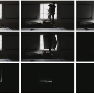 Black and white stills from a video entitled 'A Delicate SIght'