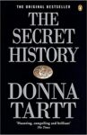Book cover for 'The Secret History' by Donna Tartt