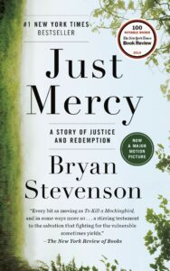 Book cover for 'Just Mercy' by Bryan Stephenson